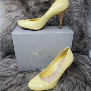 Jessica Simpson Size 7.5 Yellow Pumps